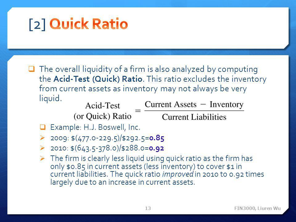[2] Quick Ratio